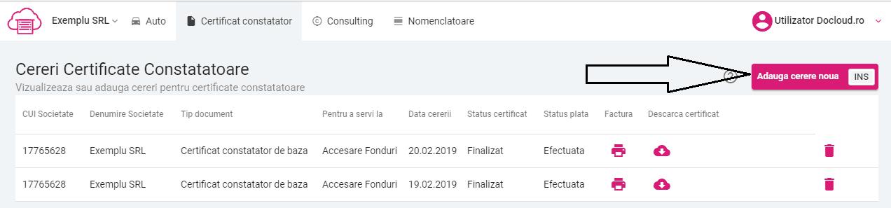 certificat online