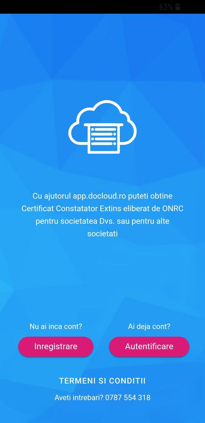aplicatie mobila certificat constatator