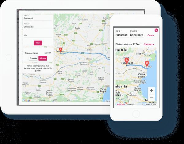 configurare rute cu google maps